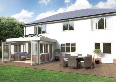Cream Skyroom with Full Glass Grey Roof