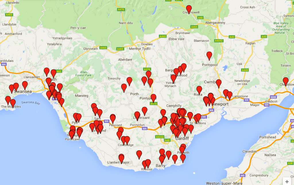 Areas we serve include West Wales, Swansea, Cardiff, Penarth, Newport, Bristol and all in between!