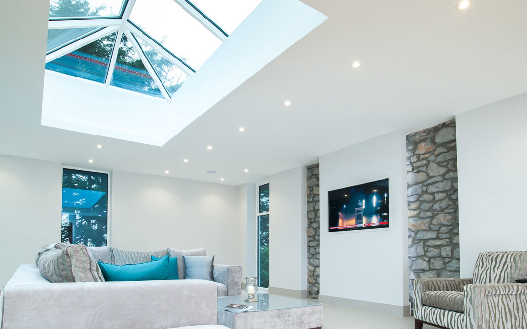 Roof lantern in a modern home
